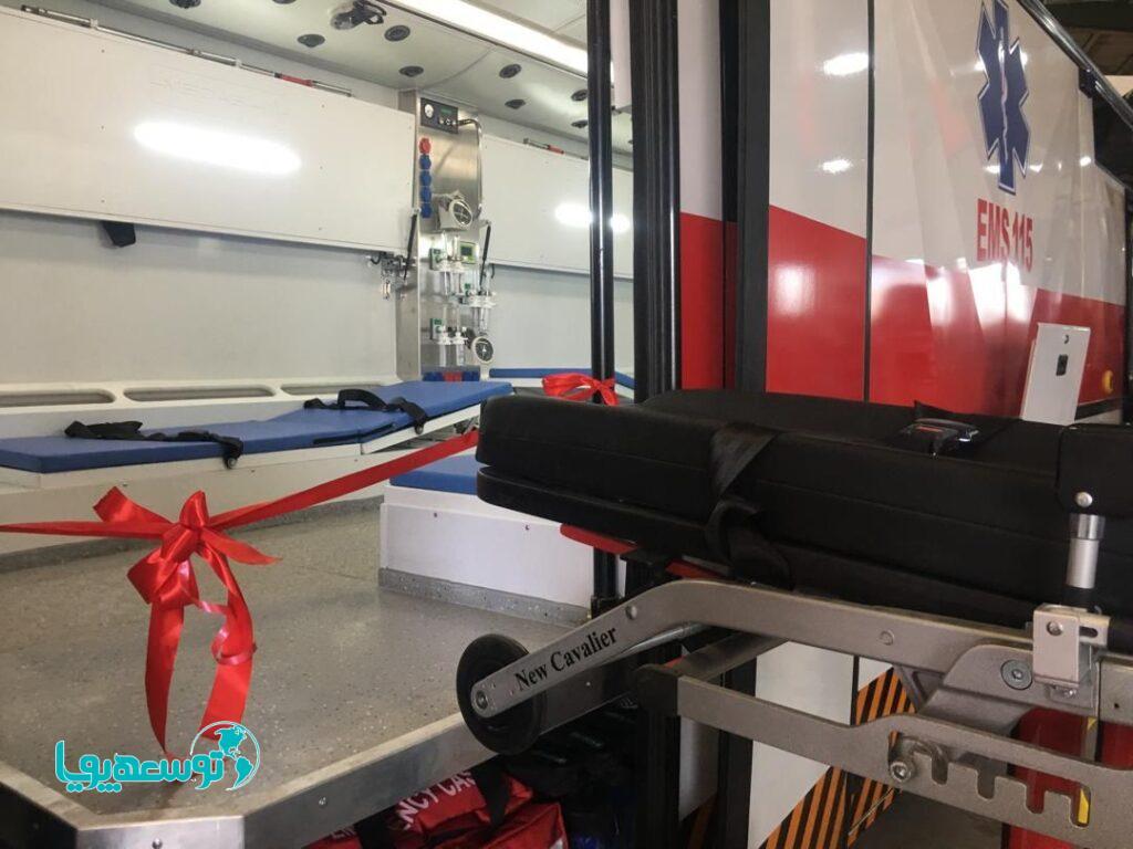 نخستین اتوبوس آمبولانس ملی در منطقه ویژه اقتصادی پیام به بهرهبرداری رسید